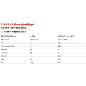 CLIF Bar Energybar Box Coconut Chocolate Chip 12x68g